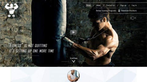 BoostSales webstore design gym template