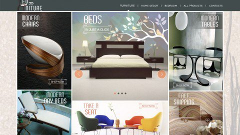 BoostSales webstore design furniture template